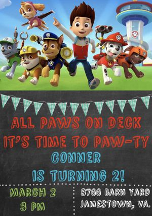 Paw Patrol Birthday Party Invitations for Sale in Norwalk, CA