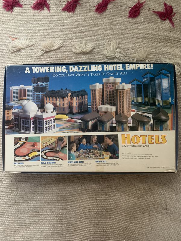 Hotels Board Game Milton Bradley