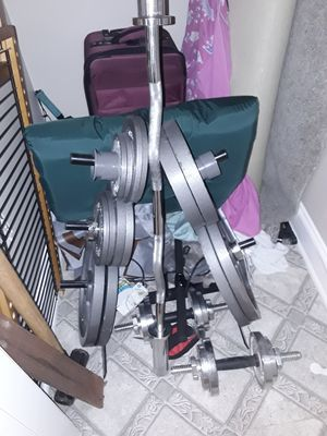 Plate weights and stand for Sale in Buford, GA