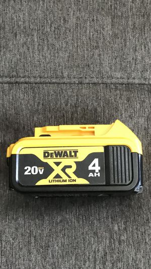 NEW DEWALT 20-Volt Lithium-Ion Premium Battery 4.0 AH NO CHARGER for Sale in Los Angeles, CA
