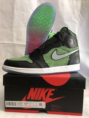 Air jordan 1 hi zoom zen green size 11 for Sale in Cypress, CA