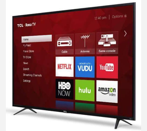 TCL 65in Class 4K (2160P) HDR refurbished Roku Smart LED TV (65S401)