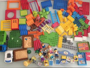 Mega Bloks junior builders bloks figures vehicles lego Duplo size for Sale in Avondale, AZ