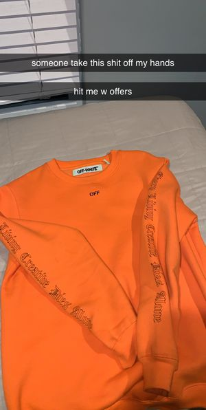 VLONE OFF WHITE CREWNECK for Sale in Torrance, CA