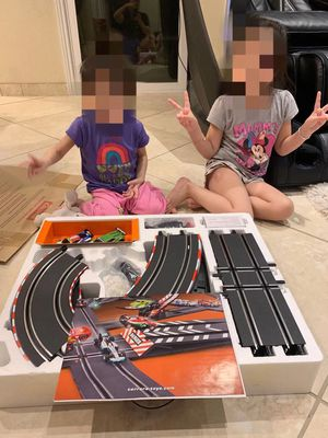 NEW Carrera Go 1:43 Scale Electric Power Slot Ferrari Lamboghinni Race Car Set 28 Feet Track with 2 Controller for Sale in San Dimas, CA