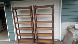 Pair of Very Nice Wood Bookcases / Bookshelves for Sale in Seattle, WA