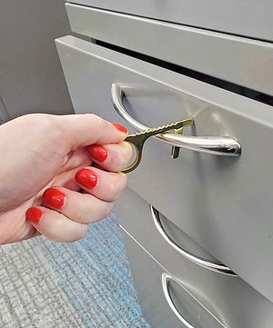PORTABLE HYGIENE HAND ANTIMICROBIAL BRASS DOOR OPENER / ELEVATOR / HANDLE / DIAL PAD KEY / KEYCHAIN for Sale in New York, NY