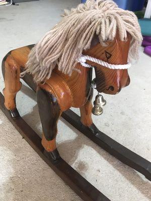 Vintage 1984 wooden Rocking Horse ranch for Sale in Stockbridge, GA
