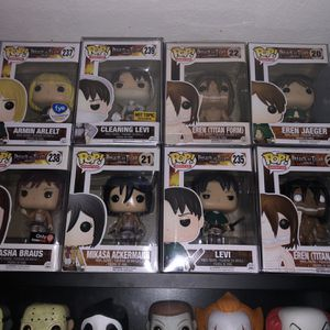 Attack On Titan Funko Pops! AS A LOT ONLY for Sale in Santa Ana, CA