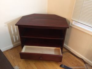 Corner unit TV stand with storage drawer for Sale in Portland, OR