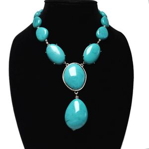 Statement Necklace Faux Turquoise Silver Tone Chic Western Boho for Sale in Temecula, CA