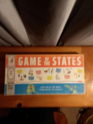 Milton Bradley, 1960 Game of the states. for Sale in Louin, MS