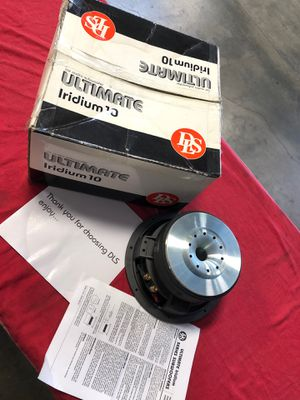 Band new DLS Ultimate iridium 10inch 4 ohm duel voice coil subwoofer for Sale in Riverside, CA