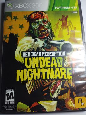 Microsoft Xbox 360 Red Dead Redemption Undead Nightmare+ dark souls 2Video Game for Sale in Riverside, CA