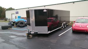 24' Vnose Enclosed Aluminum Trailer Toy Hauler for Sale in Brooklyn, NY
