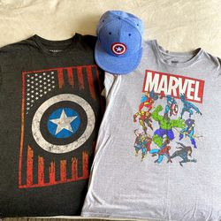 Marvel Two T-shirts & Hat Bundle for Sale in Los Angeles,  CA