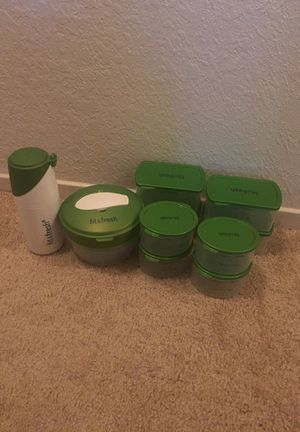💚 10 Piece- Fit & Fresh Food Storage Containers, Bowl, and Cup + Removable Ice Pack 💚 for Sale in Fresno, CA