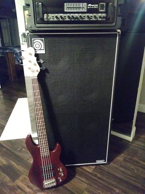 BRAND NEW RIG...ampeg svt 4 pro cab and g & l tribute series bass for Sale in Dallas, TX