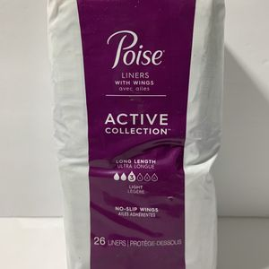 Poise Liners With Wings (26 Count) for Sale in West Palm Beach, FL