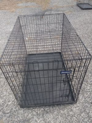 Large dog cage/ crate new reliable safe clean ready to use heavy duty gauge steel Free delivery possible) for Sale in Philadelphia, PA