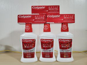 Colgate optic white toothpaste/mouthwash bundle for Sale in NEW CARROLLTN, MD