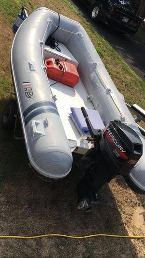 12' Ab hard bottom raft and 25 mercury motor for Sale in Warwick, RI
