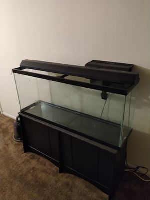 55 Gallon Aquarium with stand and filter for Sale in Atlanta, GA