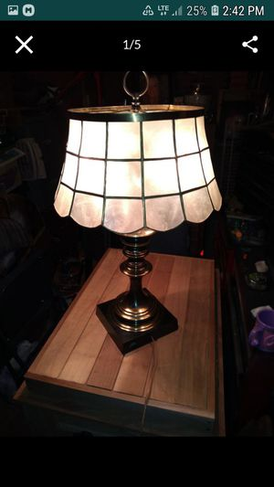 ANTIQUE arts and crafts Table lamp with mica shade for Sale in Bellevue, WA