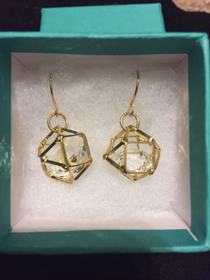 Caged gem earrings for Sale in York, PA