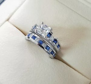 925 BLUE SAPPHIRE WEDDING RING SIZE 7 for Sale in North Brunswick Township, NJ