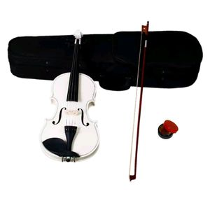 Brand New White Perfect Violin Fiddle Full Size 4/4 w/ Case & Bow & Rosin for Sale in Columbia, MD