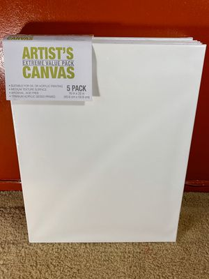 ArtDistrict 5 Pack Blank Painting Canvas for Sale in Los Angeles, CA