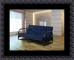 Black futon frame with mattress for Sale in College Park, MD