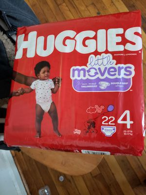3 PACKAGES DIAPERS HUGGIES LITTLE MOVERS SIZE 4 for Sale in Hyattsville, MD