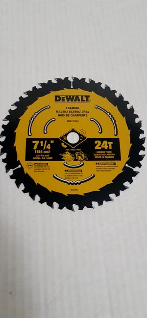 Dewalt 7-1/4 24T circular saw Blade brand new nuevo for Sale in San Bernardino, CA