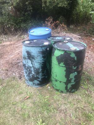 55 gallon plastic barrels for Sale in Port Orchard, WA