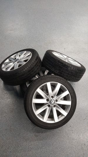 """Volkswagen 17"""" 225 45 17 Continental Contipro tires on for Sale in Mundelein, IL"""
