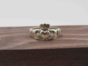 Size 8 Sterling Silver Claddagh Irish Band Ring Vintage Statement Engagement Wedding Promise Anniversary Bridal Cocktail Friendship for Sale in Lynnwood, WA