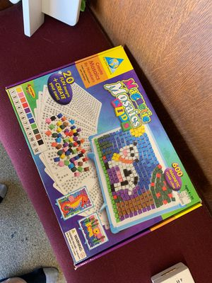 Magnetic mosaics kids game puzzle for Sale in Hawthorn Woods, IL