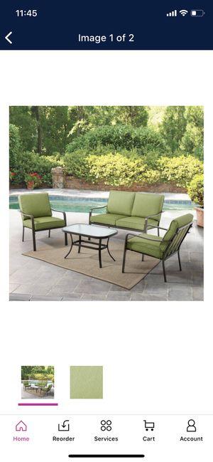 Patio Furniture Sale Mainstays Stanton Cushioned 4-Piece Patio Set for Sale in Phoenix, AZ