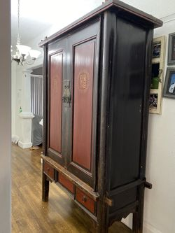 oriental antique armoire. Best offer for Sale in Oakland,  CA