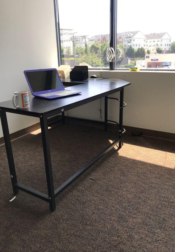 OFFICE SALE - 4 Wooden black L desks