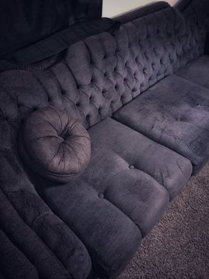 Sofa couch loveseat chair set crushed velvet cotton blend for Sale in McKees Rocks, PA