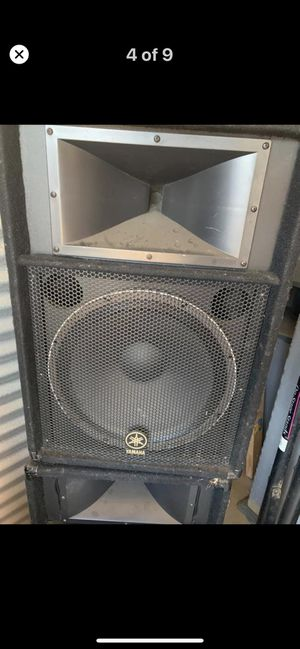 2 Yamaha speakers $350 obo cash only no trades no low ballers for Sale in Fresno, CA