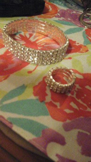 Wedding. Bling, Bling set. Bracelet and ring for Sale in Pomona, CA
