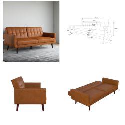 Faux leather futon for Sale in Nashville,  TN