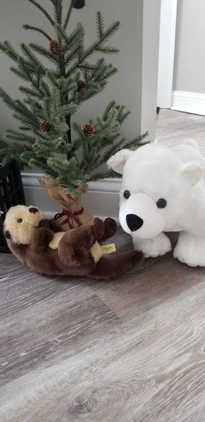 Stuffed animals. Polar bear and otter for Sale in Cleveland, OH