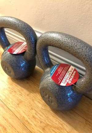 Kettle bell pair 25 lbs 💥 for Sale in North Miami, FL