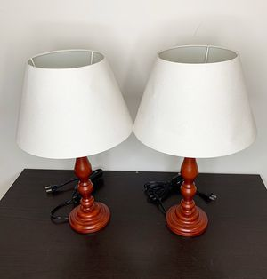 "$25 (set of 2) NEW Table Lamp Nightstand Light for Desk, Bedroom, Office Lighting (20"" Tall) for Sale in Pico Rivera, CA"