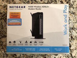 Netgear N300 Wireless ADSL2+ Modem Router for Sale in Butler, PA